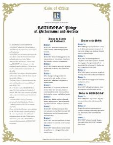 Code d'éthique et de déontologie des agents immobiliers Realtors®