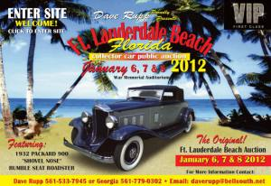 Encan publique d'autos de collection - Fort Lauderdale, FL