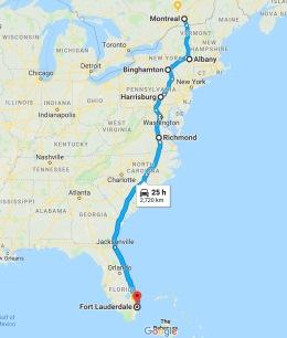 2- Albany vers Binghamton puis Richmond