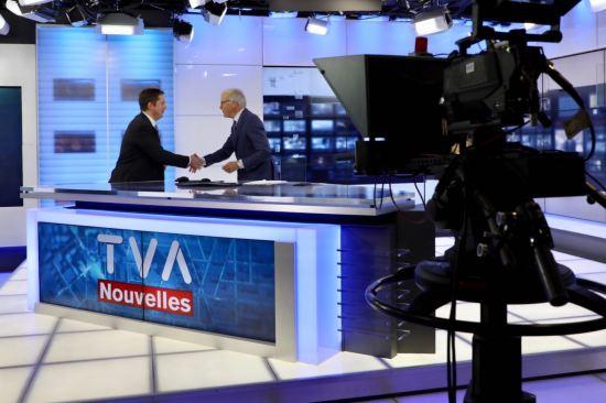 Télévision en français avec l'émission TVA Nouvelles du Québec