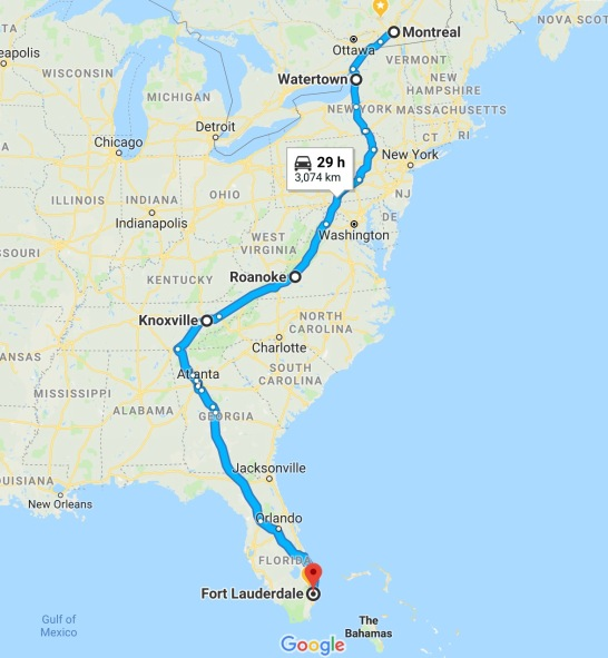 5- De Knoxville, Atlanta et enfin Fort Lauderdale