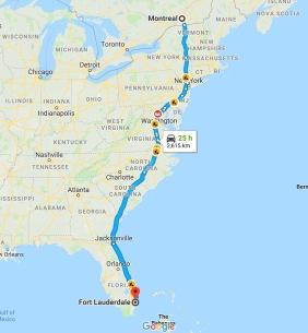 1- Les autoroutes de Plattsburgh vers New York